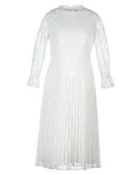 Weißes Ausgestelltes Kleid aus Spitze von Little Mistress