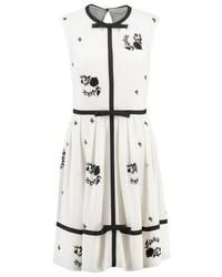 weißes ausgestelltes Kleid mit Blumenmuster von Ted Baker