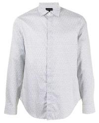 weißes bedrucktes Businesshemd von Emporio Armani