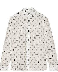 weißes bedrucktes Businesshemd von Kenzo