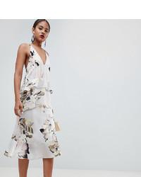 weißes bedrucktes Camisole-Kleid von Asos Tall