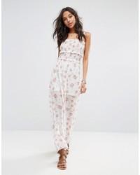 weißes bedrucktes Camisole-Kleid von Boohoo