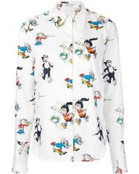 weißes bedrucktes Hemd von Stella McCartney