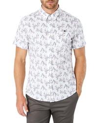 weißes bedrucktes Kurzarmhemd