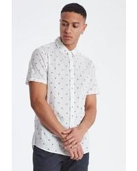 weißes bedrucktes Kurzarmhemd von BLEND