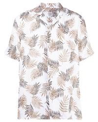 weißes bedrucktes Kurzarmhemd von Eleventy