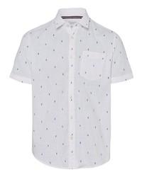 weißes bedrucktes Kurzarmhemd von Esprit