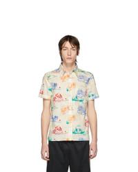 weißes bedrucktes Kurzarmhemd von Gucci