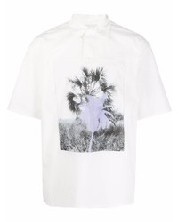 weißes bedrucktes Kurzarmhemd von Kenzo