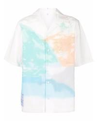 weißes bedrucktes Kurzarmhemd von McQ