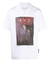 weißes bedrucktes Kurzarmhemd von Off-White