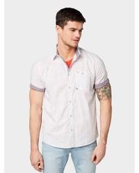 weißes bedrucktes Kurzarmhemd von Tom Tailor