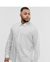 weißes bedrucktes Langarmhemd von ASOS DESIGN