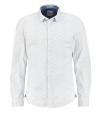 Weißes bedrucktes Langarmhemd von Esprit