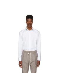 weißes bedrucktes Langarmhemd von Gucci