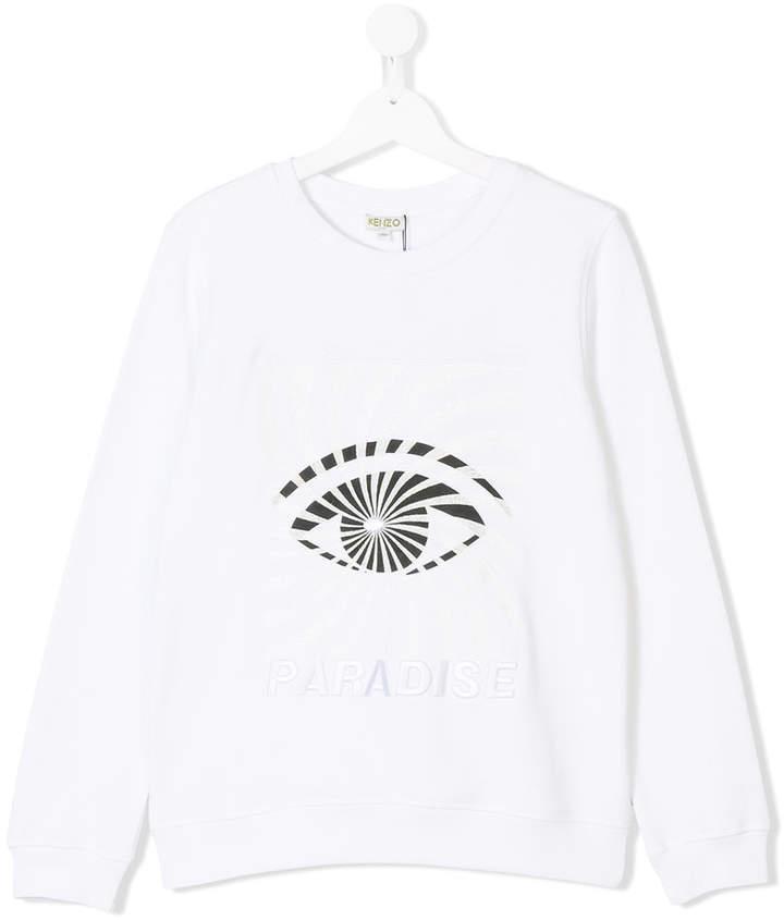 weißes bedrucktes Langarmshirt von Kenzo