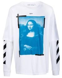 weißes bedrucktes Langarmshirt von Off-White