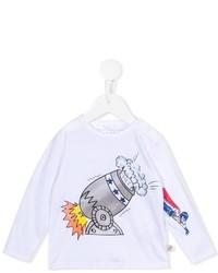 weißes bedrucktes Langarmshirt von Stella McCartney