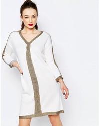 weißes bedrucktes Sweatkleid von Love Moschino