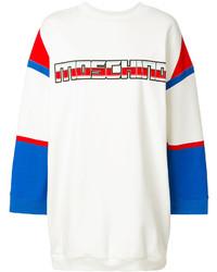 weißes bedrucktes Sweatkleid von Moschino