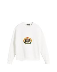 weißes bedrucktes Sweatshirt von Burberry