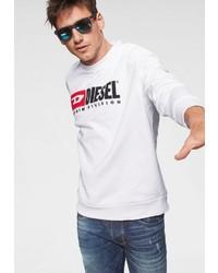 weißes bedrucktes Sweatshirt von Diesel