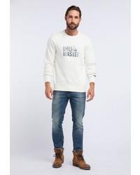weißes bedrucktes Sweatshirt von Dreimaster