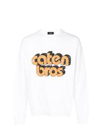 weißes bedrucktes Sweatshirt von DSQUARED2