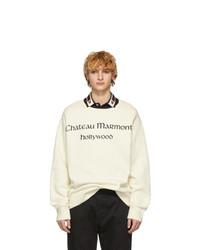 weißes bedrucktes Sweatshirt von Gucci
