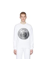 weißes bedrucktes Sweatshirt von Moschino