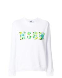 weißes bedrucktes Sweatshirt von MSGM