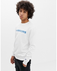 weißes bedrucktes Sweatshirt von New Era