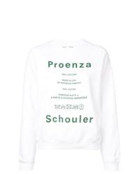 weißes bedrucktes Sweatshirt von Proenza Schouler