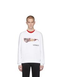weißes bedrucktes Sweatshirt von Versace