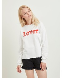 weißes bedrucktes Sweatshirt von Vila