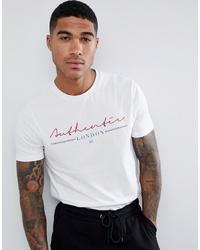 weißes bedrucktes T-Shirt mit einem Rundhalsausschnitt von ASOS DESIGN