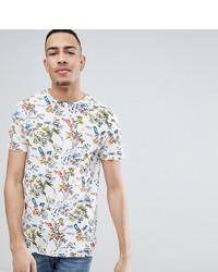 weißes bedrucktes T-Shirt mit einem Rundhalsausschnitt von Bellfield