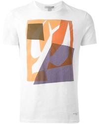 weißes bedrucktes T-Shirt mit einem Rundhalsausschnitt von Burberry
