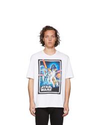 weißes bedrucktes T-Shirt mit einem Rundhalsausschnitt von Etro