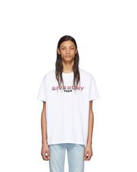 weißes bedrucktes T-Shirt mit einem Rundhalsausschnitt von Givenchy