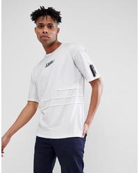 weißes bedrucktes T-Shirt mit einem Rundhalsausschnitt von Jack & Jones