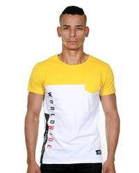 weißes bedrucktes T-Shirt mit einem Rundhalsausschnitt von MADMEXT
