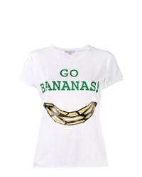 weißes bedrucktes T-Shirt mit einem Rundhalsausschnitt von Natasha Zinko