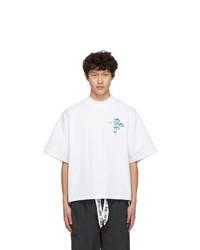 weißes bedrucktes T-Shirt mit einem Rundhalsausschnitt von Reebok By Pyer Moss
