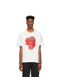 weißes bedrucktes T-Shirt mit einem Rundhalsausschnitt von Stolen Girlfriends Club