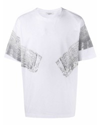 weißes bedrucktes T-Shirt mit einem Rundhalsausschnitt von Valentino