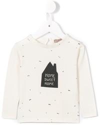 weißes bedrucktes T-shirt von Emile et Ida