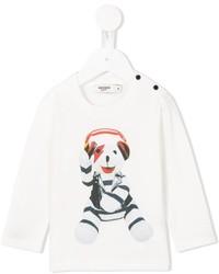 weißes bedrucktes T-shirt von Junior Gaultier