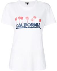 weißes bedrucktes T-shirt von Paige