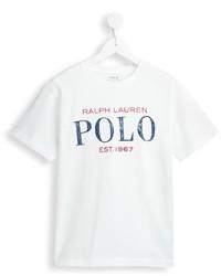 weißes bedrucktes T-shirt von Ralph Lauren